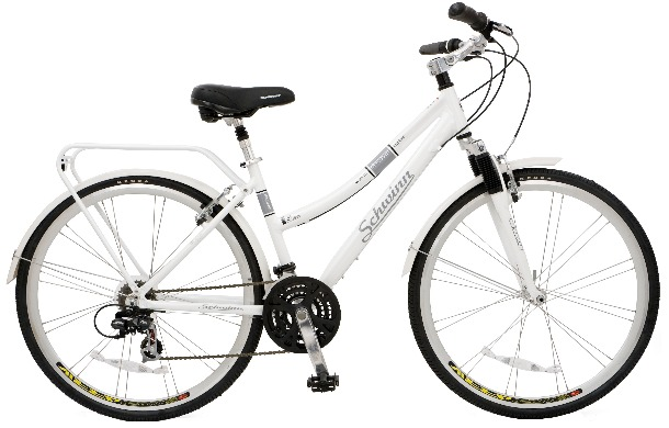 2010 inline schwinn womens city bike white S5397